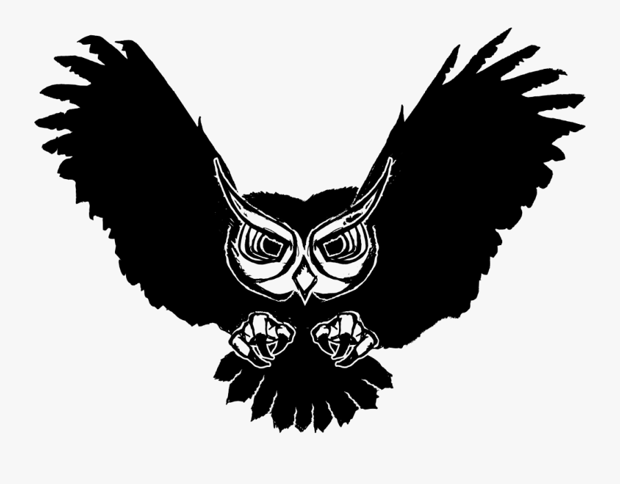 Owl Logo Burung Hantu Hitam Putih Free Transparent Clipart