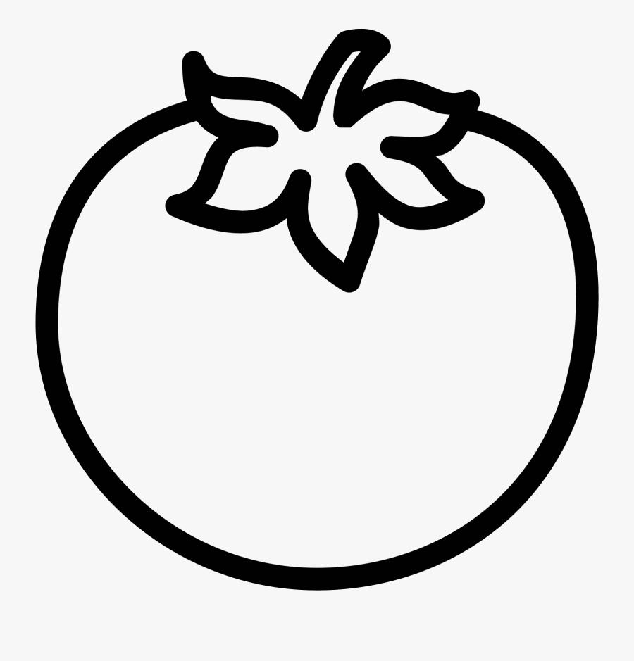 Transparent Tomato Clipart - Tomato Black And White, Transparent Clipart