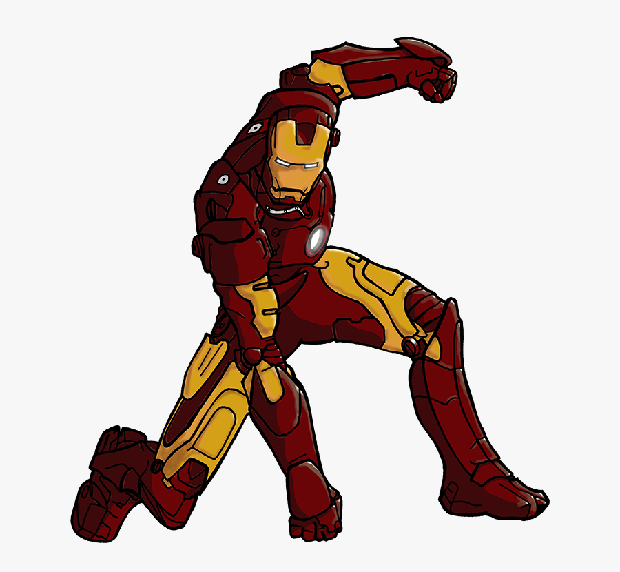 Iron Man Marvel Iron Man Coloring Pages Free Printable - Iron Man Drawing Color, Transparent Clipart