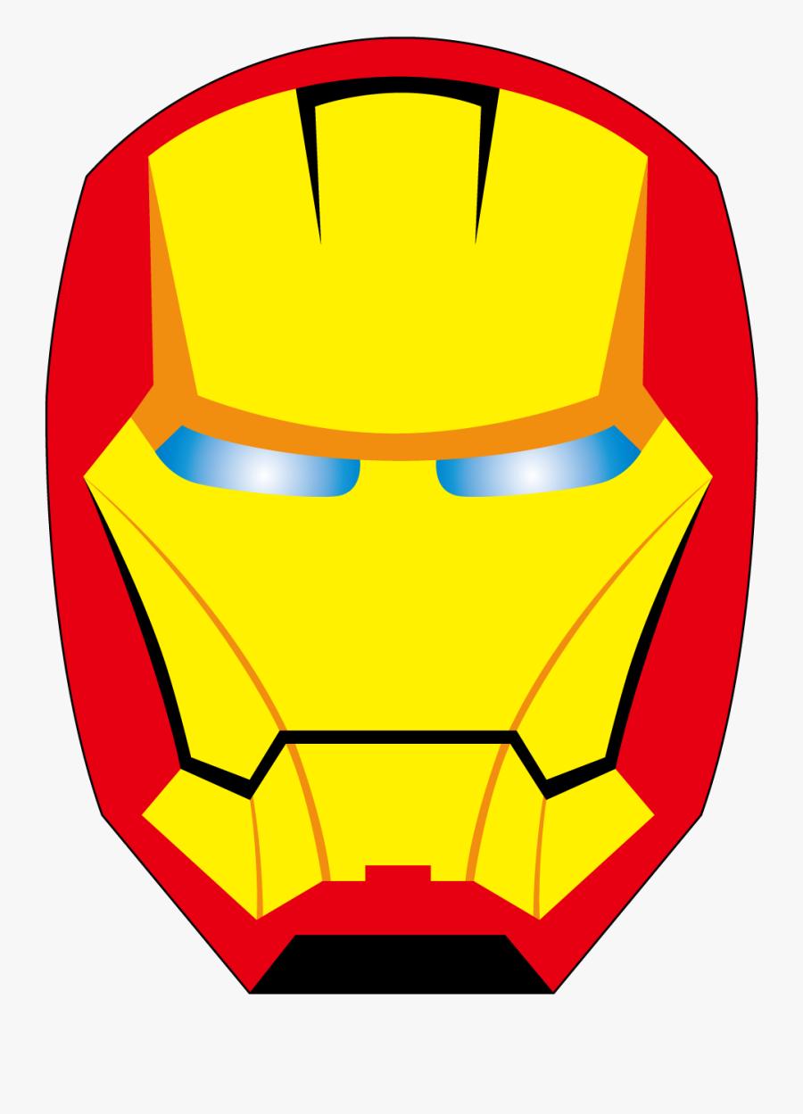 Face Clipart Ironman - Iron Man Face Clipart, Transparent Clipart