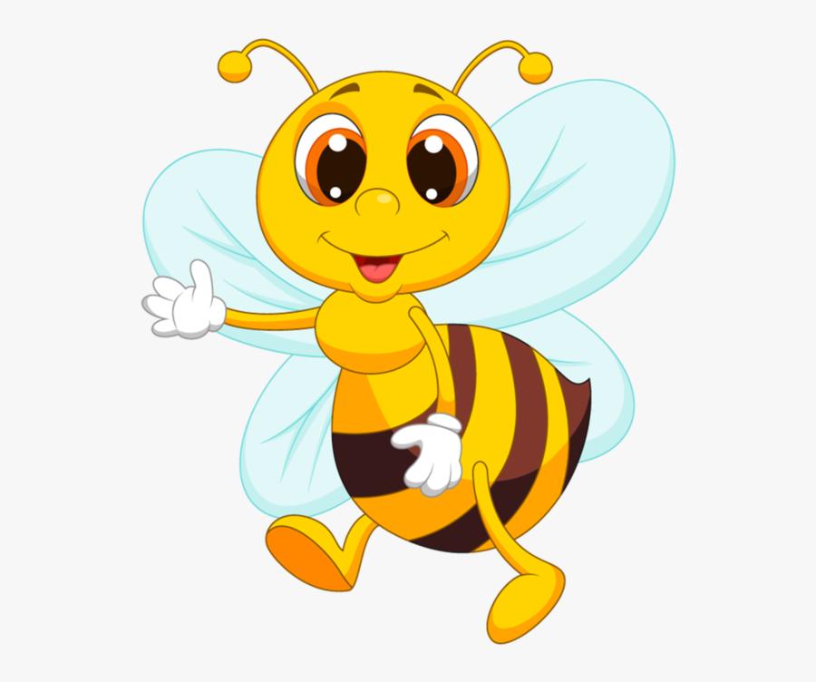 X Kb Fun - Cute Bee Cartoon, Transparent Clipart