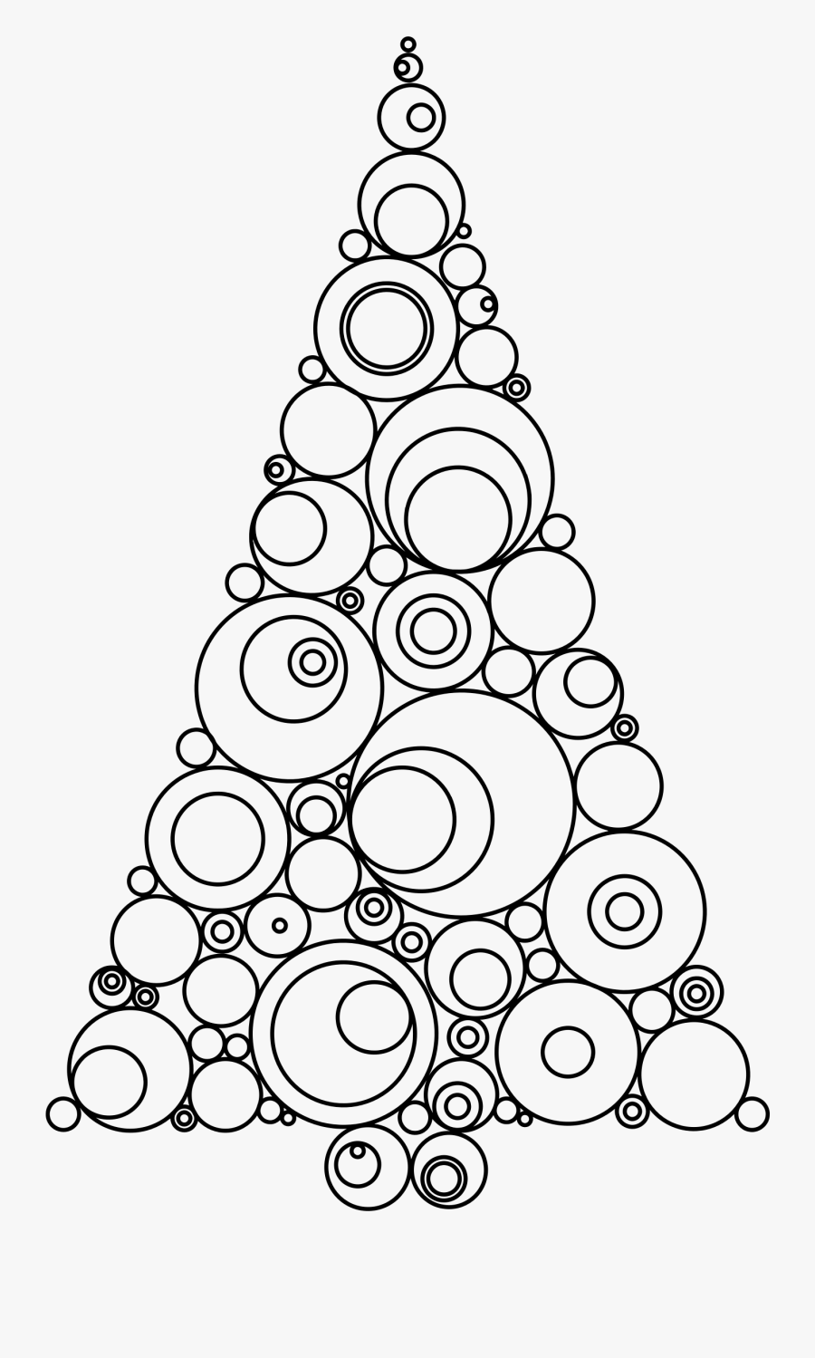Abstract Christmas Tree Jpg Black And White Download - Abstract Christmas Tree Drawing, Transparent Clipart