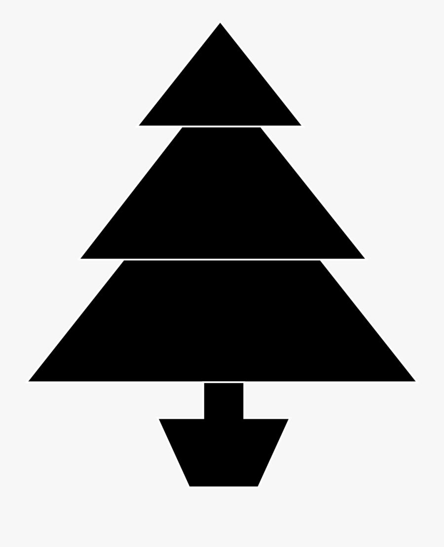 Christmas Tree Clipart Black And White - Christmas Tree Illustration Black, Transparent Clipart