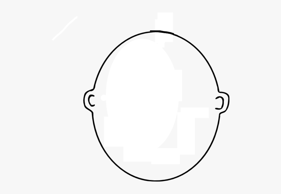 Blank Face Clipart Black And White - Bald Head Coloring Page, Transparent Clipart