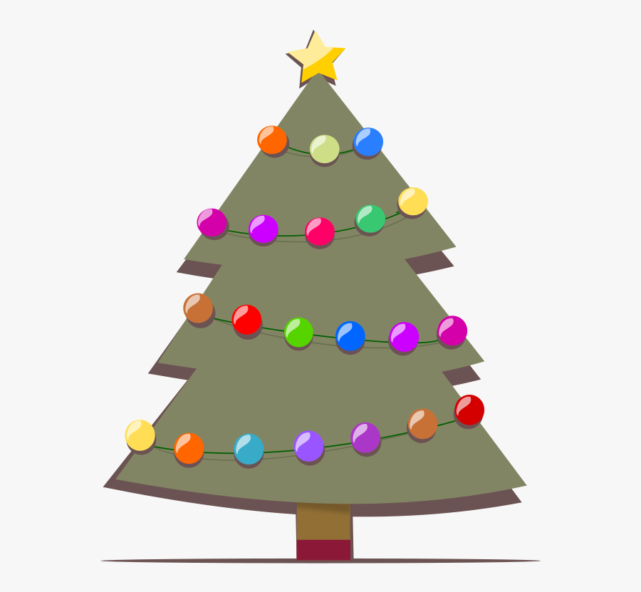 Christmas Bells In Lights Clipart, Vector Clip Art - Show The Picture Of Christmas Tree, Transparent Clipart