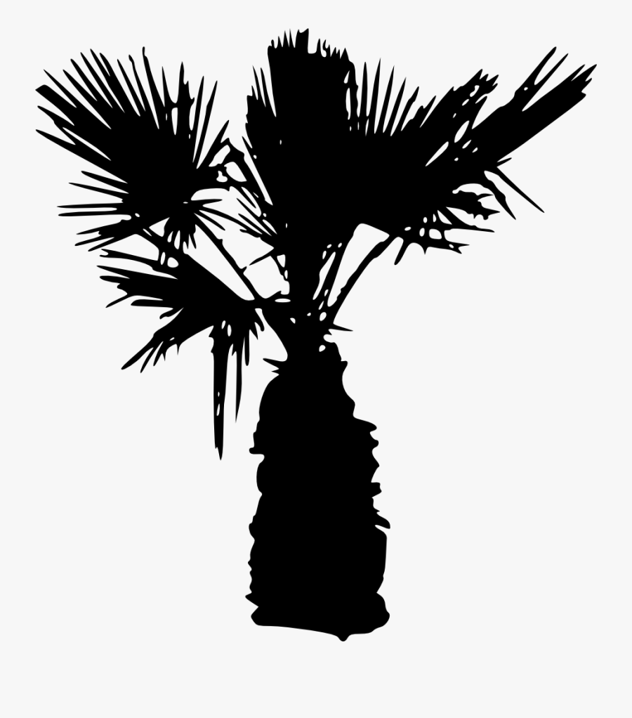 15 Palm Tree Silhouettes Png Transparent Background - Palm Tree Silhouette Transparent Background, Transparent Clipart