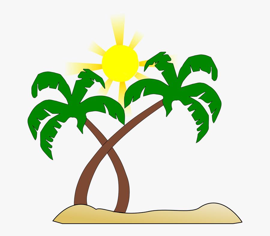 Free Hawaiian Palm Tree Clipart - Clip Art Beach Transparent, Transparent Clipart