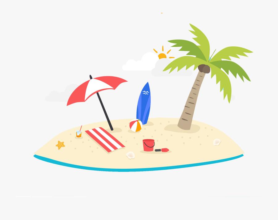 Tree Clipart Summer Season - Clipart Summer Palm Tree Png, Transparent Clipart