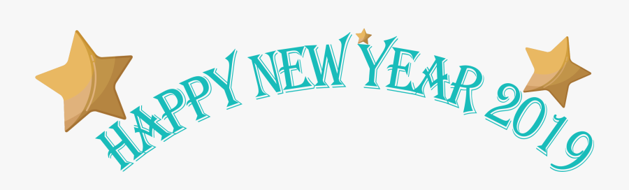 Stars, Banner, 2019, Happy New Year - Happy New Year 2019 Clip Art Banner, Transparent Clipart