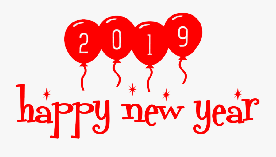 2019 Happy New Year Png Background - Illustration, Transparent Clipart