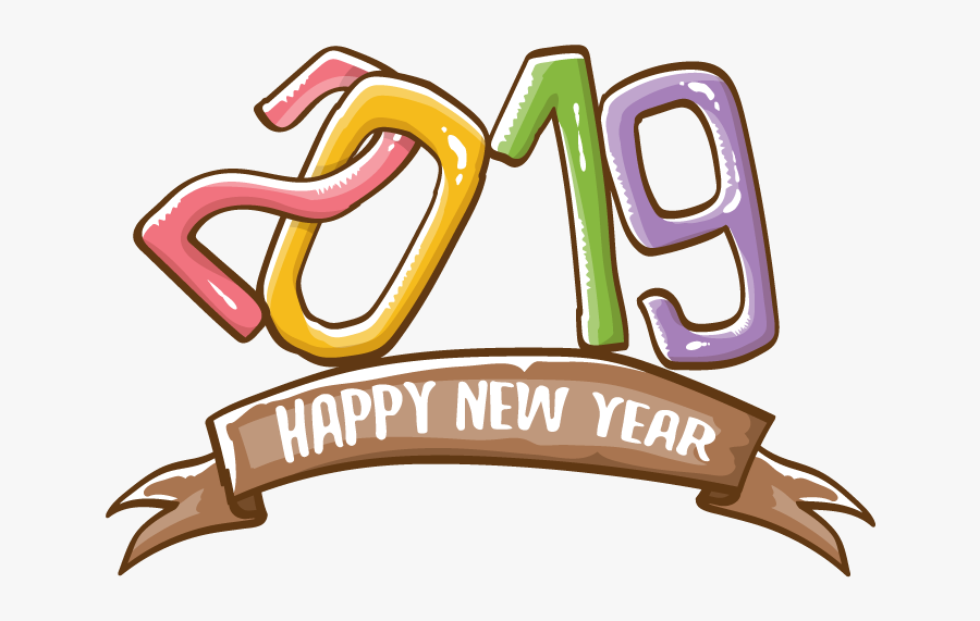 Vector Happy New Year Clip Art, Transparent Clipart