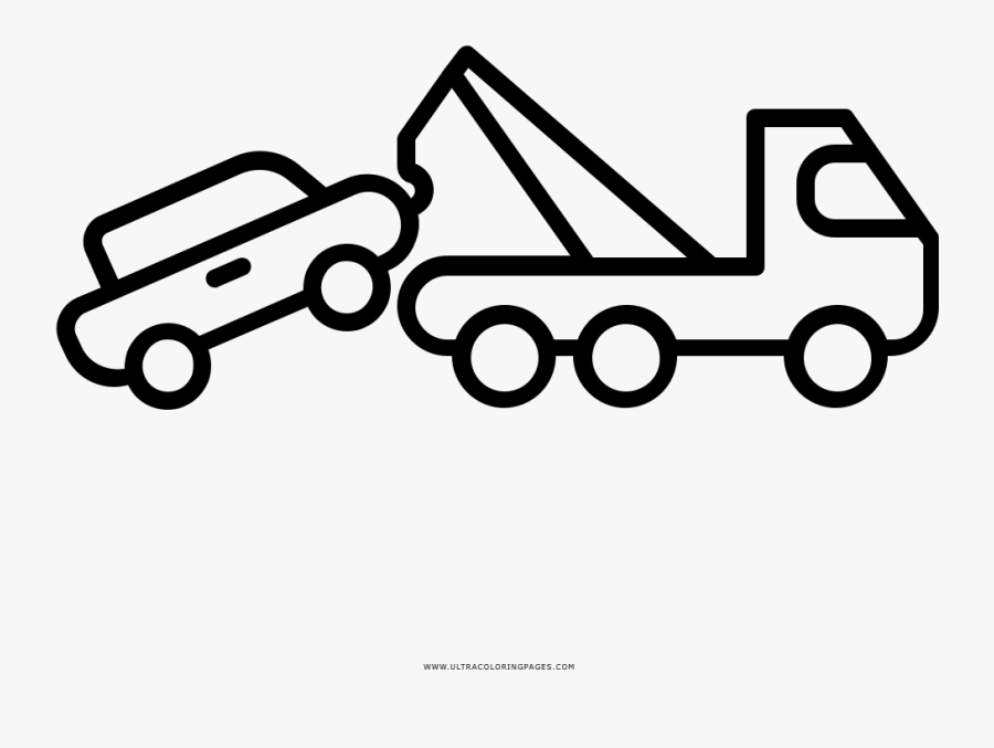 Tow Truck Coloring Page Car Crane Icon Free Transparent Clipart Clipartkey
