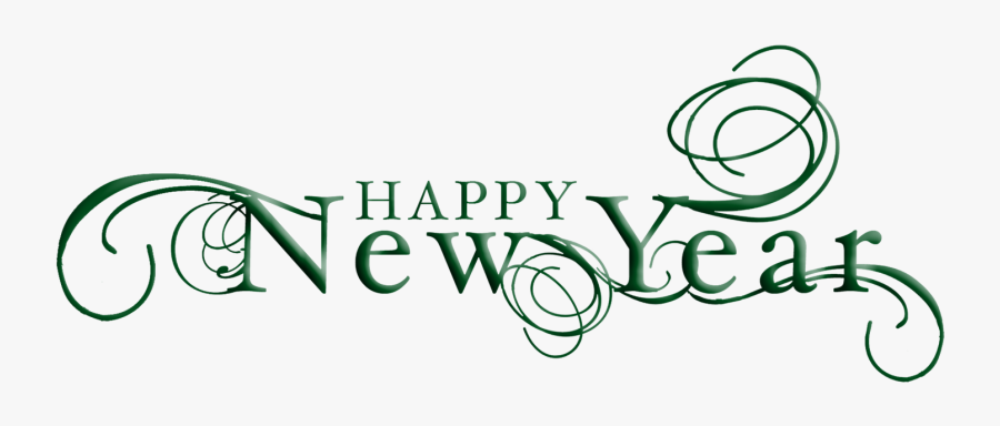 Happy New Year Black And White, Transparent Clipart