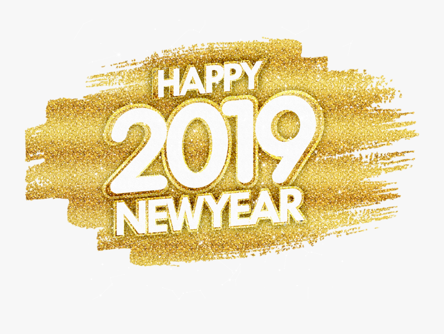 Gold Transparent Happy New Year 2019 Png, Transparent Clipart