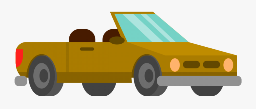 Vehicle,car,motor Vehicle,yellow,clip Art,tow Truck,model - Car Cartoon With Transparent Background, Transparent Clipart