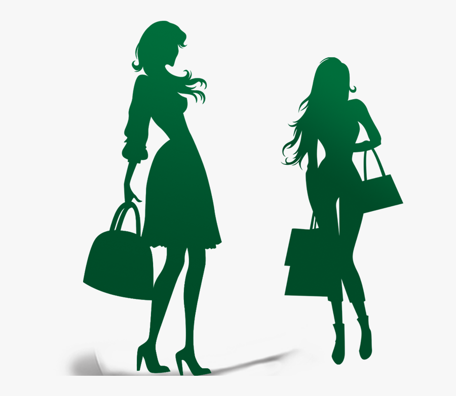 Fashion Model Silhouette Clip Art At Getdrawings - Black And White Fashion Girl Clipart, Transparent Clipart