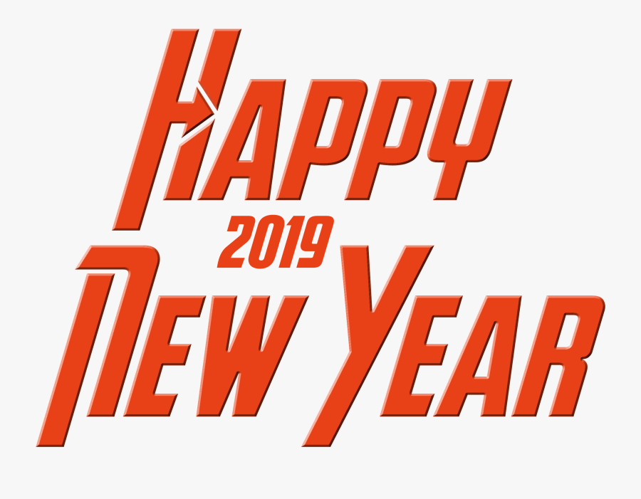 2019 Happy New Year Png Text - Happy New Year 2019 Stickers, Transparent Clipart