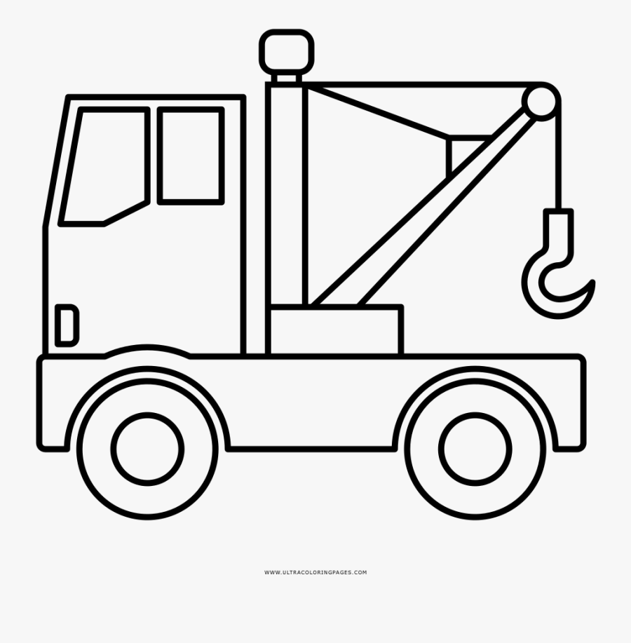 Tow Truck Coloring Page Water Tank Truck Drawing Free Transparent Clipart Clipartkey