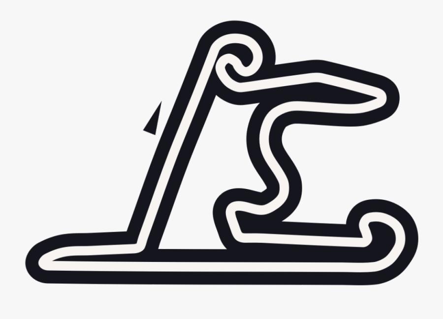 Track Clipart Grand Prix - China Formula 1 Track, Transparent Clipart