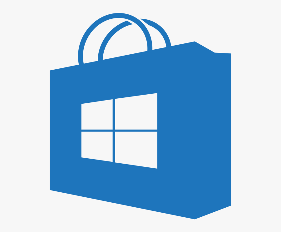 Store For Windows 10 And Windows 10 Mobile Updated - Windows Store App Icon, Transparent Clipart