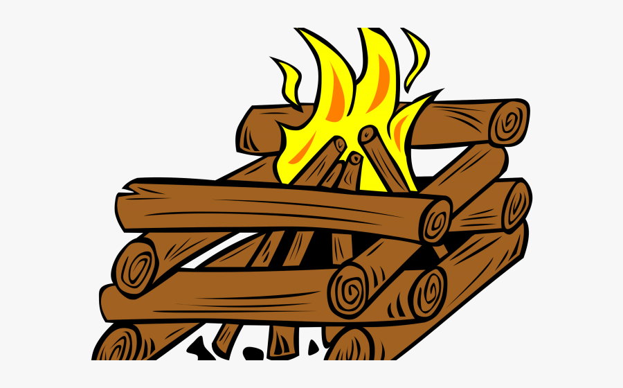 Log Cabin Teepee Fire, Transparent Clipart