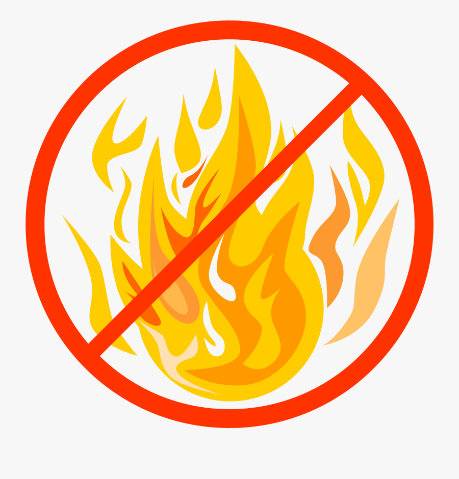 Graphic For Open Fire Ban - Circle With Fire, Transparent Clipart