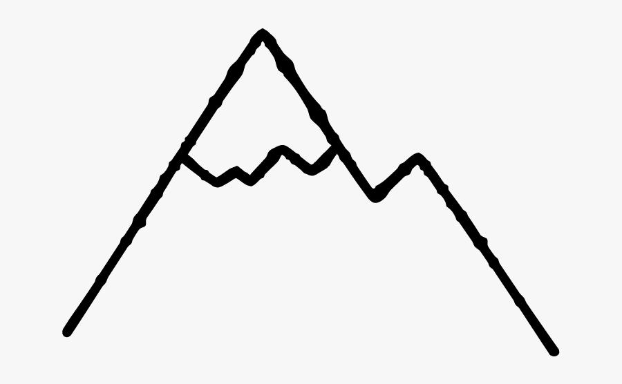 Mountains - Line Art, Transparent Clipart