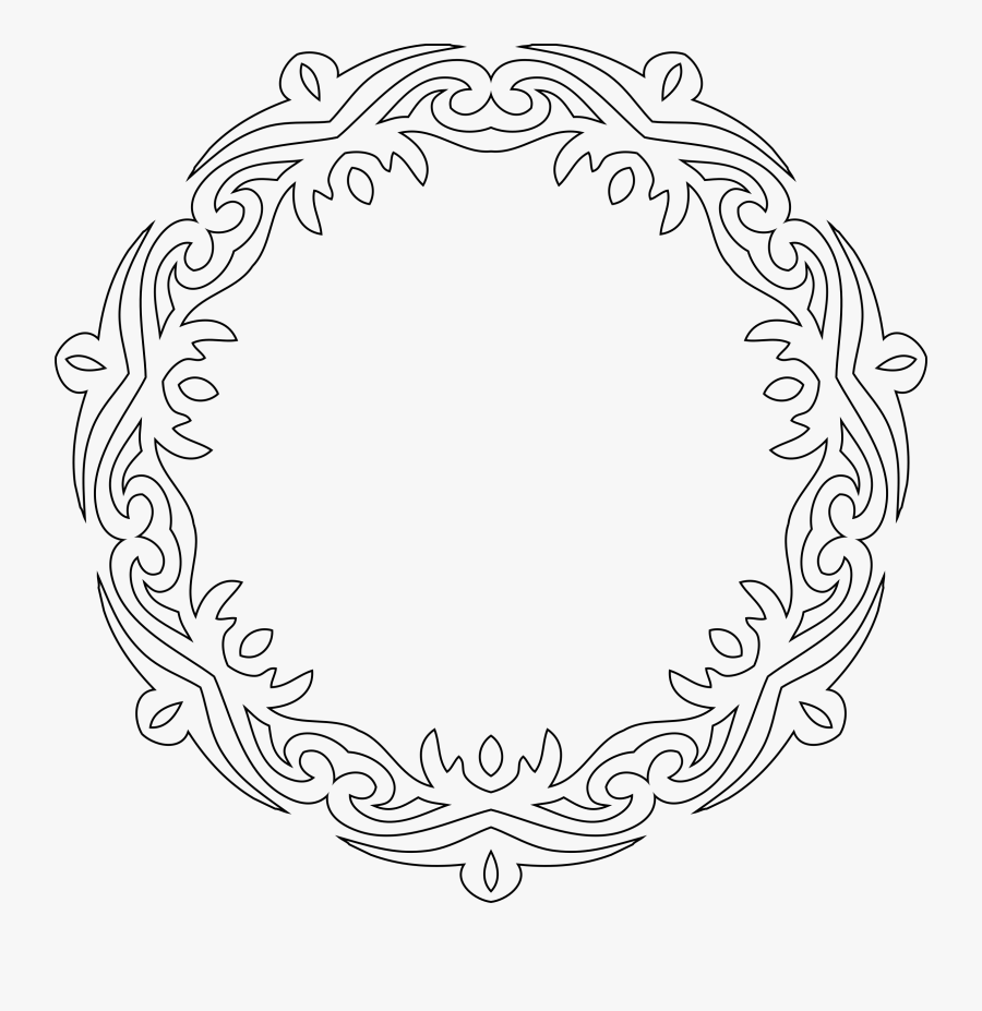 Decorative Line Art Frame - Decorative Line Art Frames Vector Png, Transparent Clipart