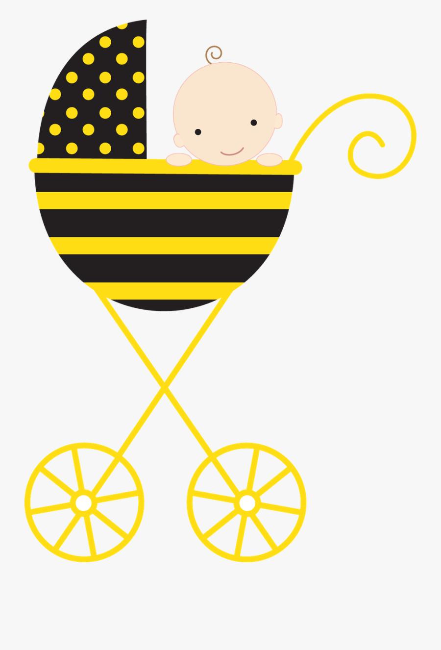 Beb Menino E Menina - Bumblebee Baby Clip Art, Transparent Clipart