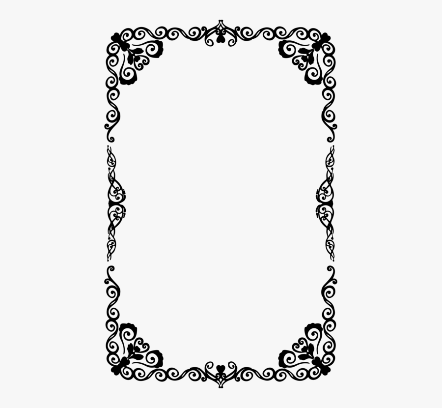 Picture Frame,line Art,area - Halloween Border Clipart Black And White, Transparent Clipart