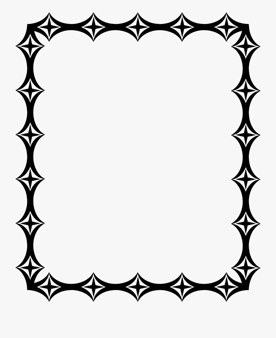 Picture Frame,line Art,flower - Frame Ornamental Decorative Borders, Transparent Clipart