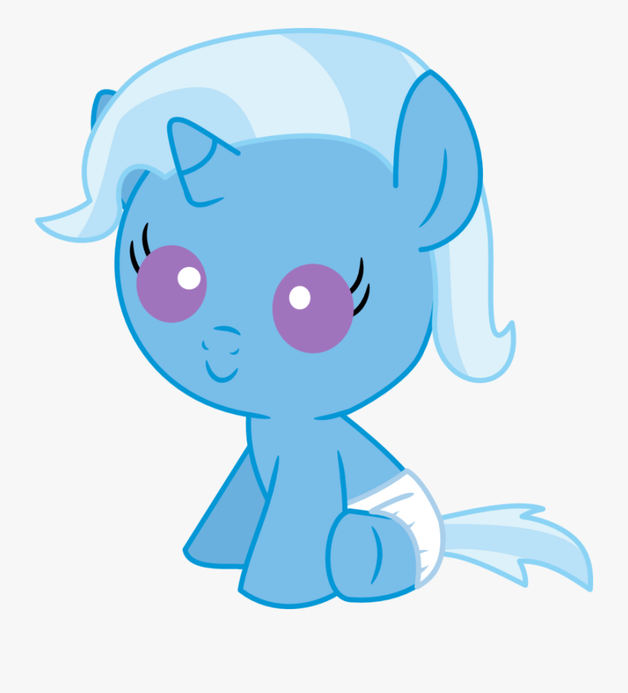 Mighty355, Baby, Baby Pony, Baby Trixie, Cute, Diaper, - My Little Pony Baby Trixie, Transparent Clipart