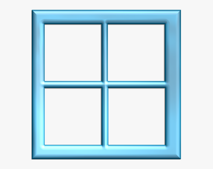 Square Clipart Light Green - Window Square Design Clipart, Transparent Clipart