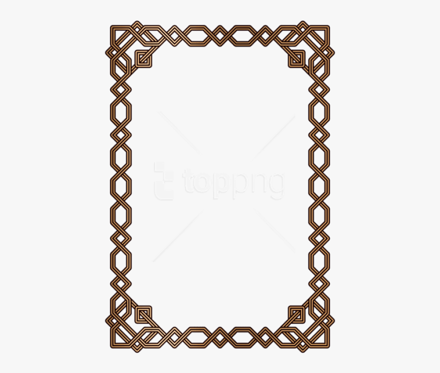 Frame Clipart Border - Rectangle Victorian Frame Vector, Transparent Clipart