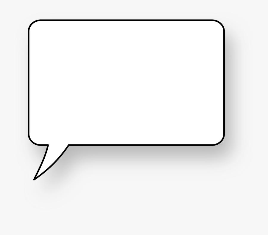 Square Book Clipart - Transparent Background Square Speech Bubble Png, Transparent Clipart