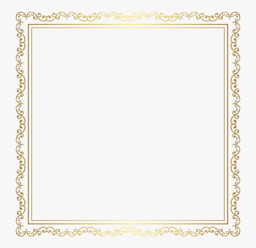 Transparent Gold Frame Border Png - Square Border Frame Png, Transparent Clipart