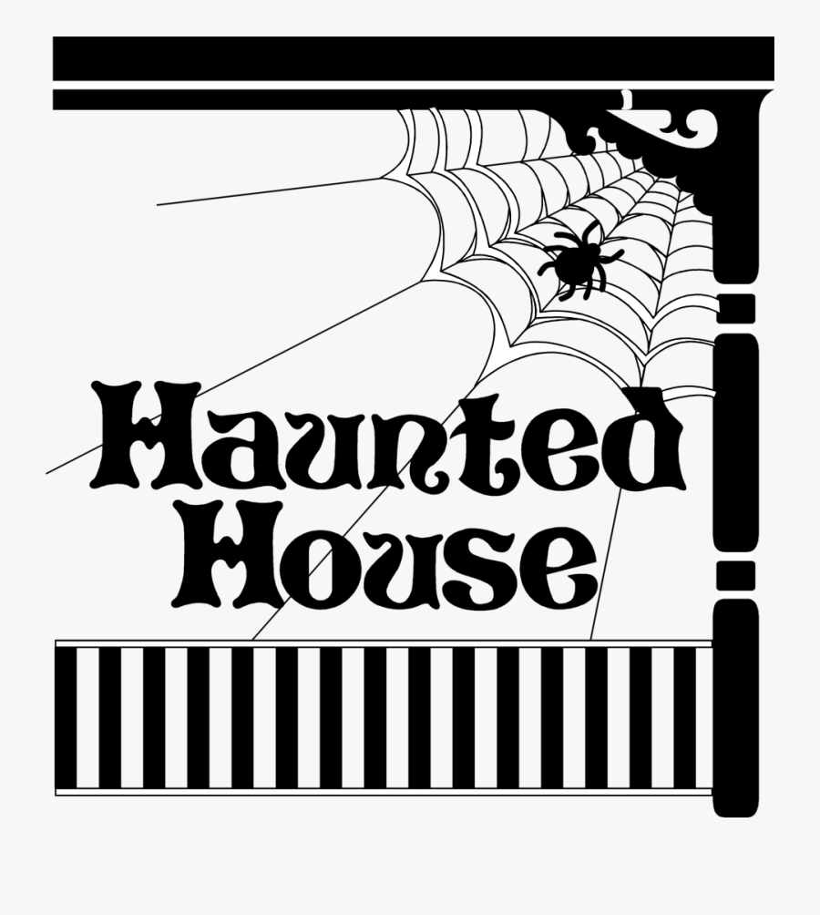 Haunted House - Haunted House Clipart With A Title, Transparent Clipart