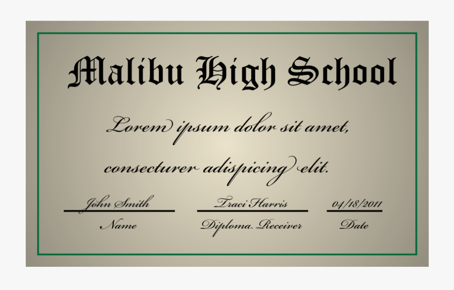 A High School Diploma - Arts School Diploma, Transparent Clipart