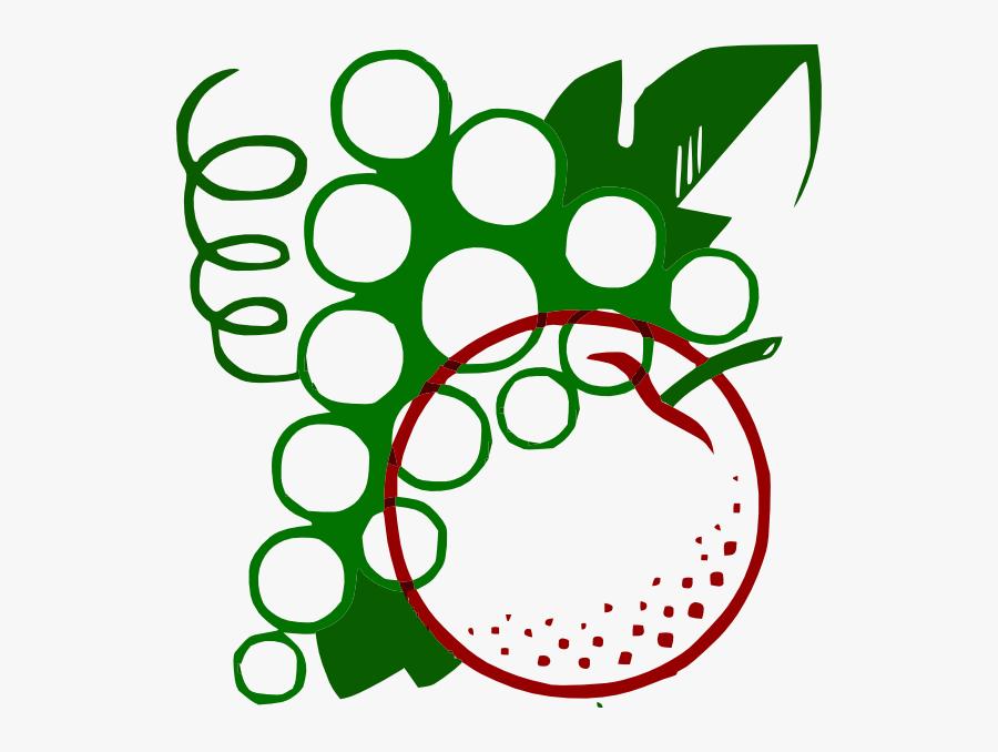 Free Vector Organge Grapes Cartoon Clip Art - Eat Fruit Be Healthy, Transparent Clipart