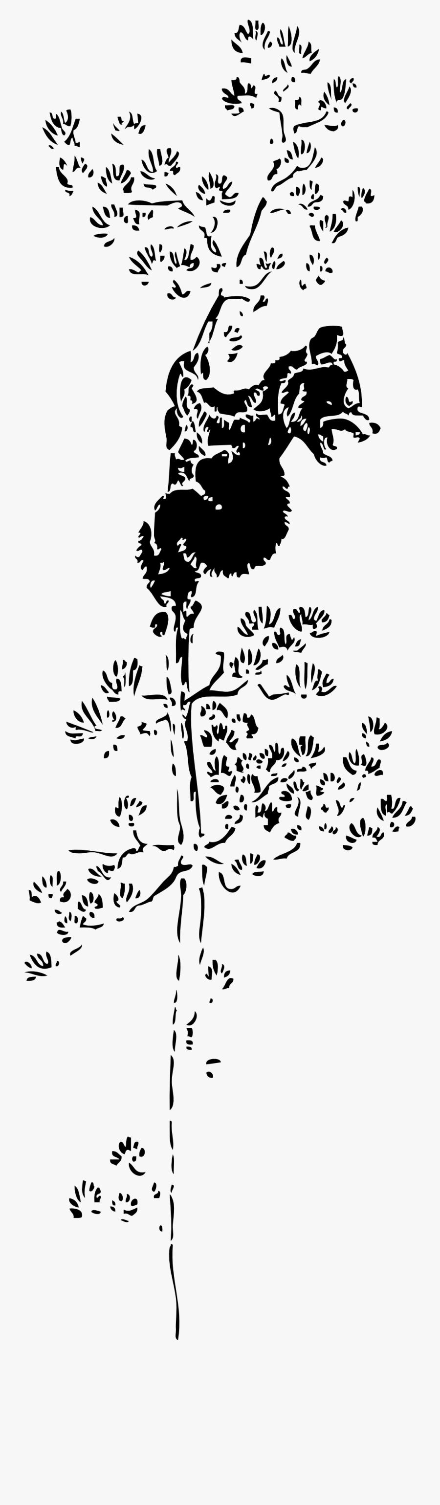 Bear Cub Up A Tree Black White Line Art 555px - Cat On Tree Cartoon Black And White, Transparent Clipart