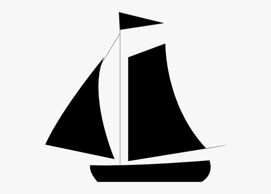 Black Sail Boat Svg Clip Arts - Blue Sail Clipart, Transparent Clipart