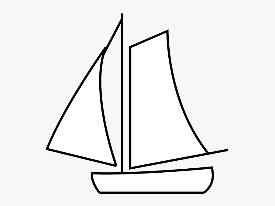 Graphic Transparent Sailing Boat Clip Art At Clker - White Sailing Boat Png, Transparent Clipart