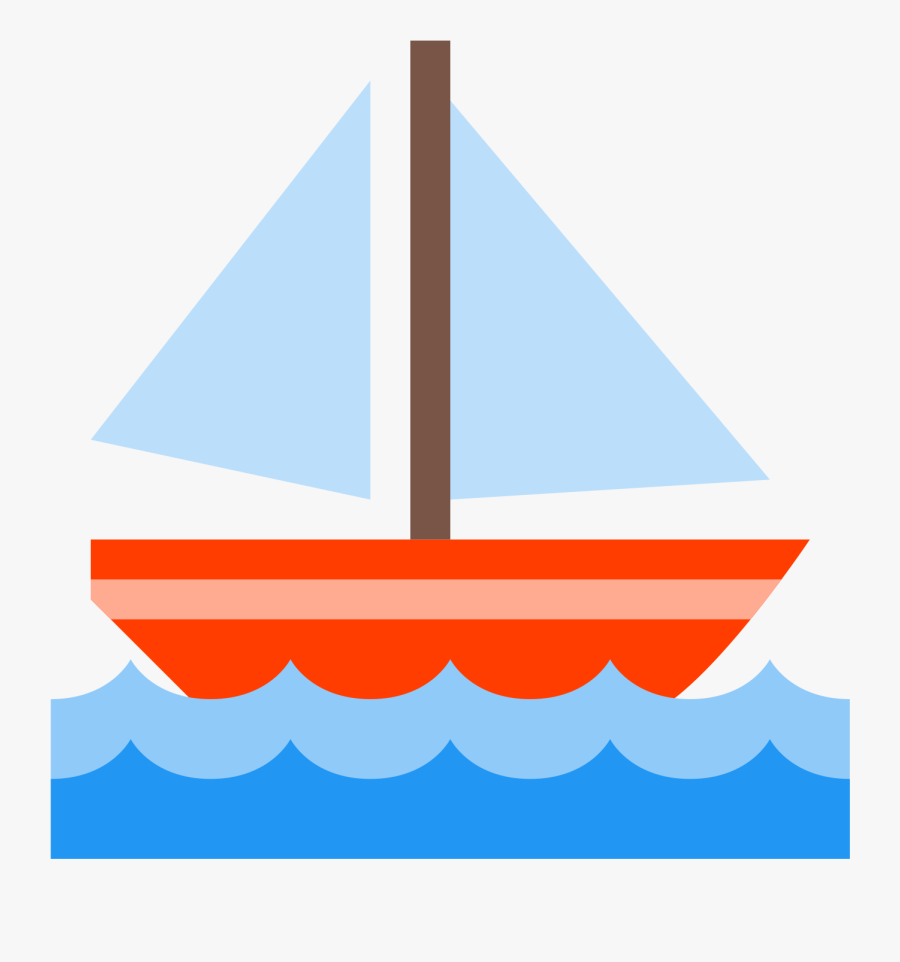 Sail Boat Icon - Clipart Transparent Background Sailboat, Transparent Clipart