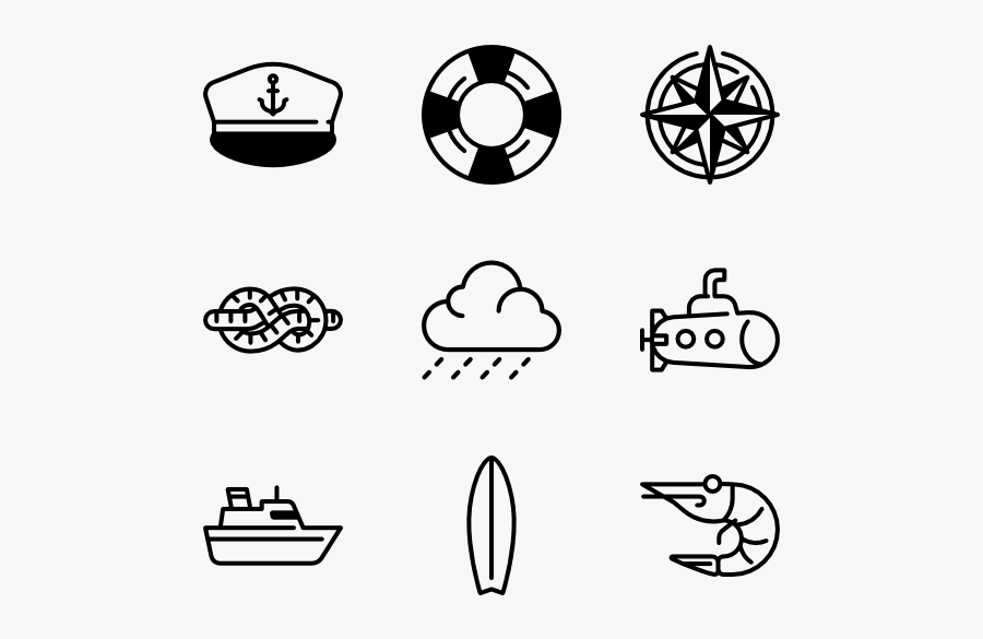 Nauticons - Sailboat Icon, Transparent Clipart