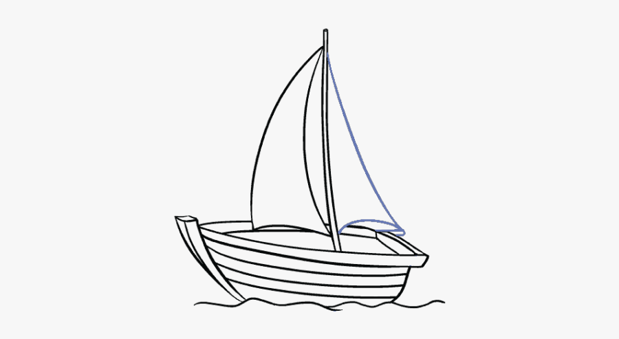 Boat Drawing, Transparent Clipart