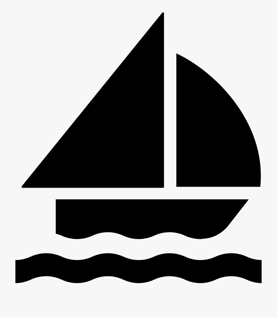 Sailboat Symbol, Transparent Clipart