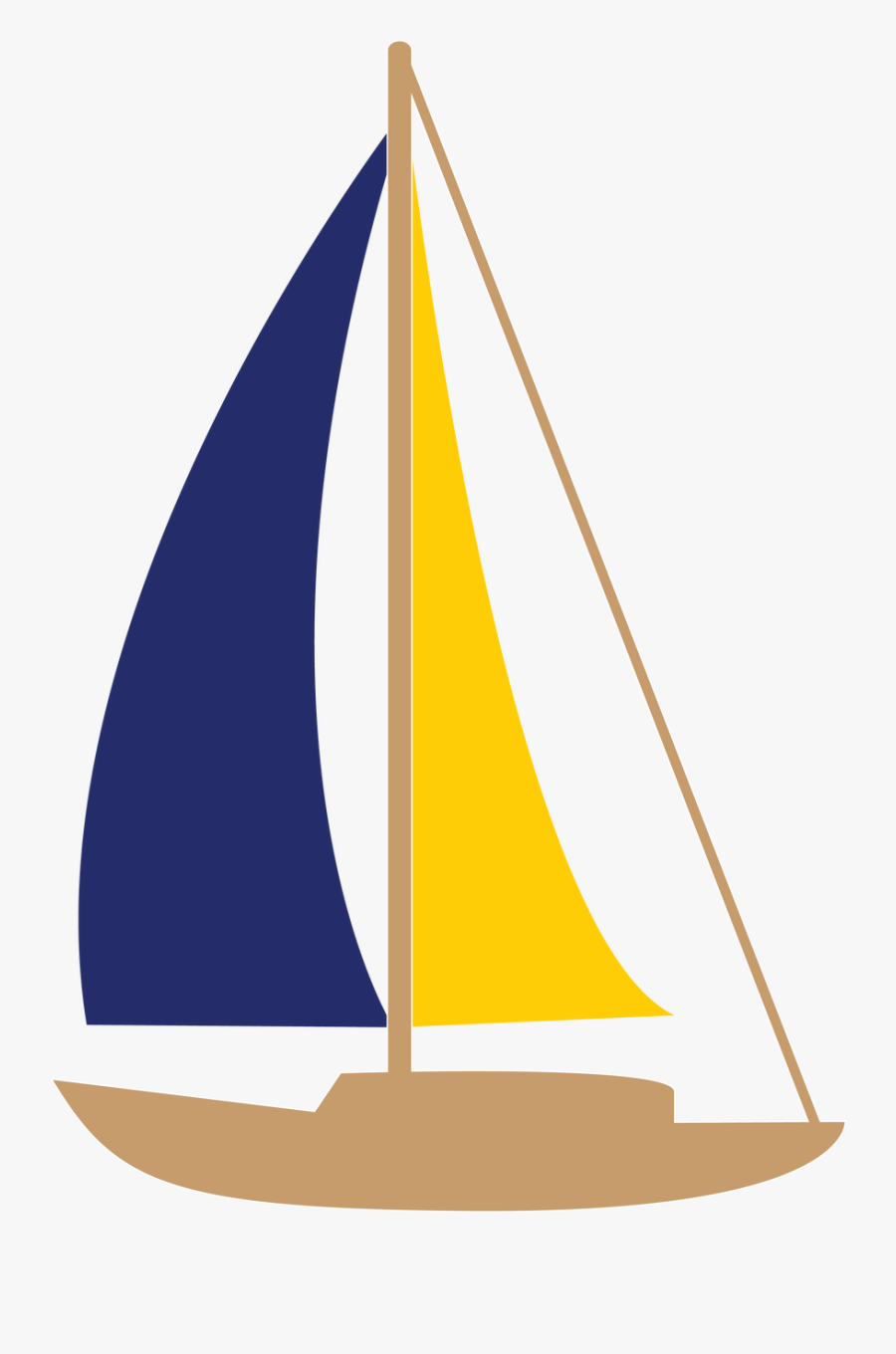 Sailboat Svg Cut File - Sail, Transparent Clipart