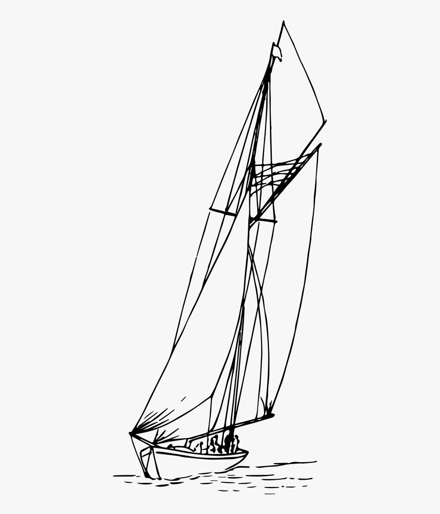Sail Boat - Sail, Transparent Clipart