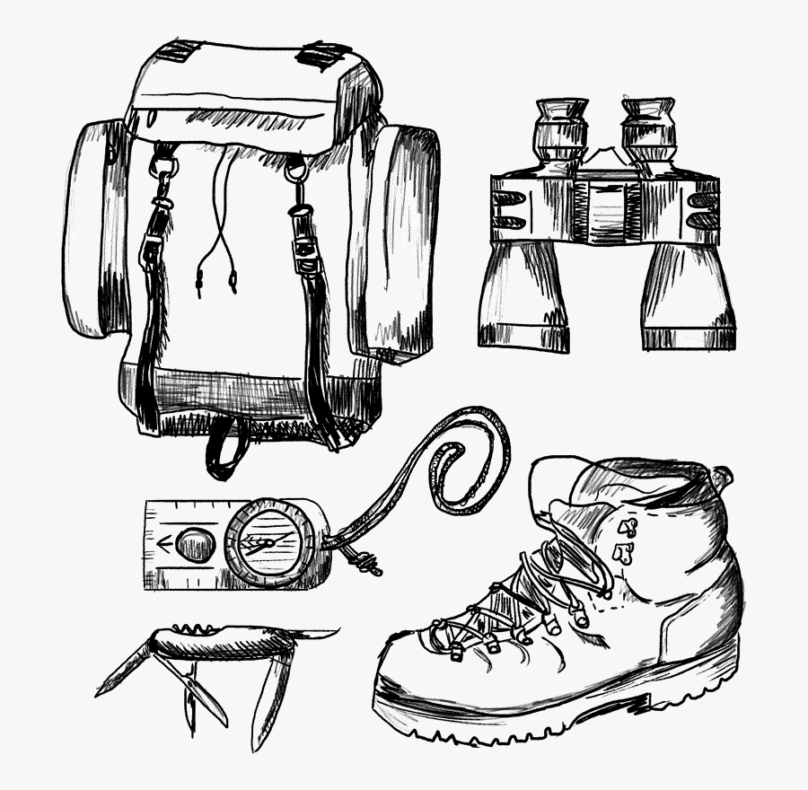 Hiking Boots Drawing Easy, Transparent Clipart