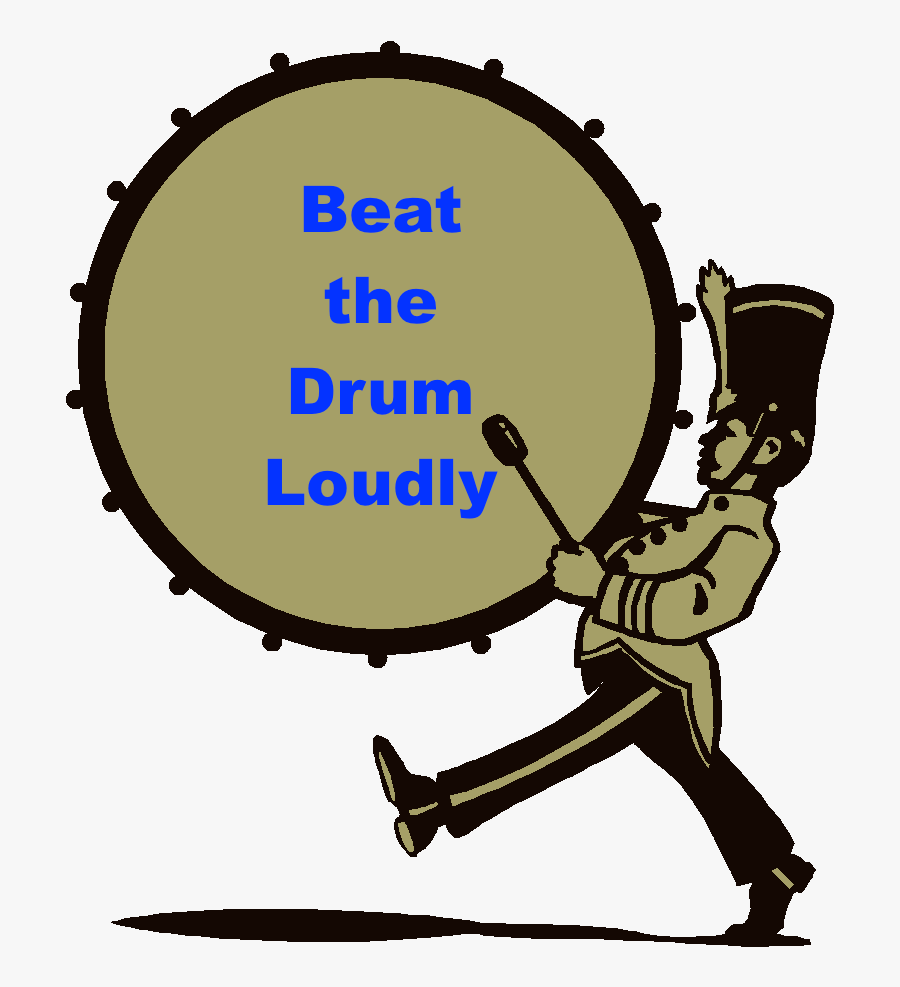 Drumline Marching Percussion Marching Band Clip Art - Marching Bass Drum Clipart, Transparent Clipart